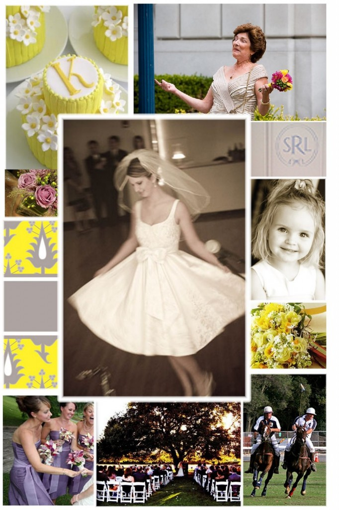 Short Dress, Yellow Flowers, Wedding