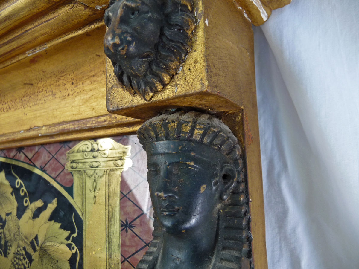 Federalist Mirror With Sphinx And Lion Head