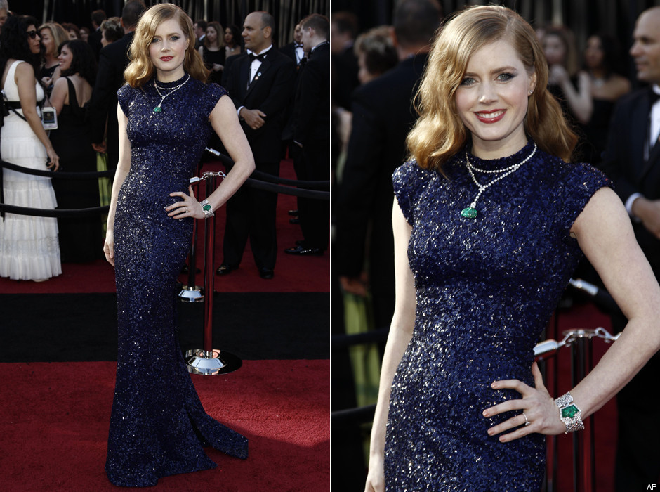 Amy Adams in Navy Sequins