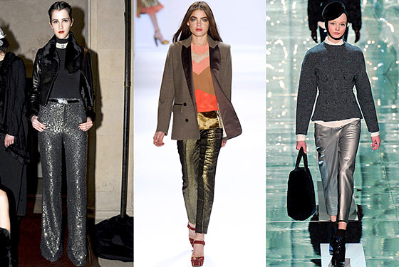 The Cut, Metallic Pants For Fall