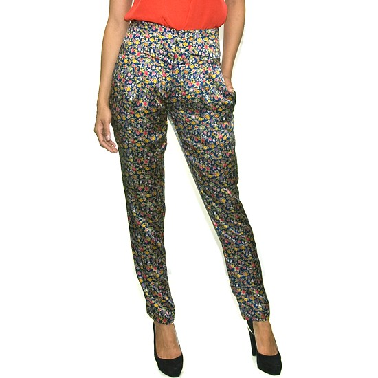 Flowered Satin Pants from Gargyle