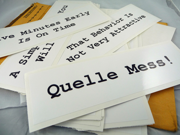 Quelle Mess! A Simple Thank You Will Suffice, That Behavior Is Not Very Attractive