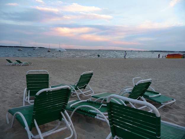 Chairs on a Cape Cod beach