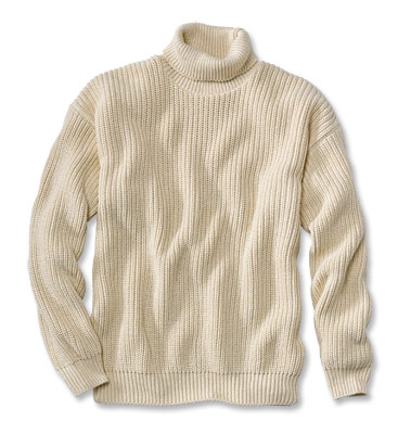 Orvis cotton sweater, fisherman style