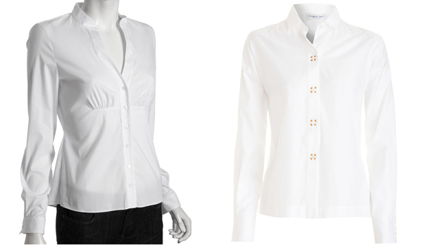 Tahari, button front, business casual