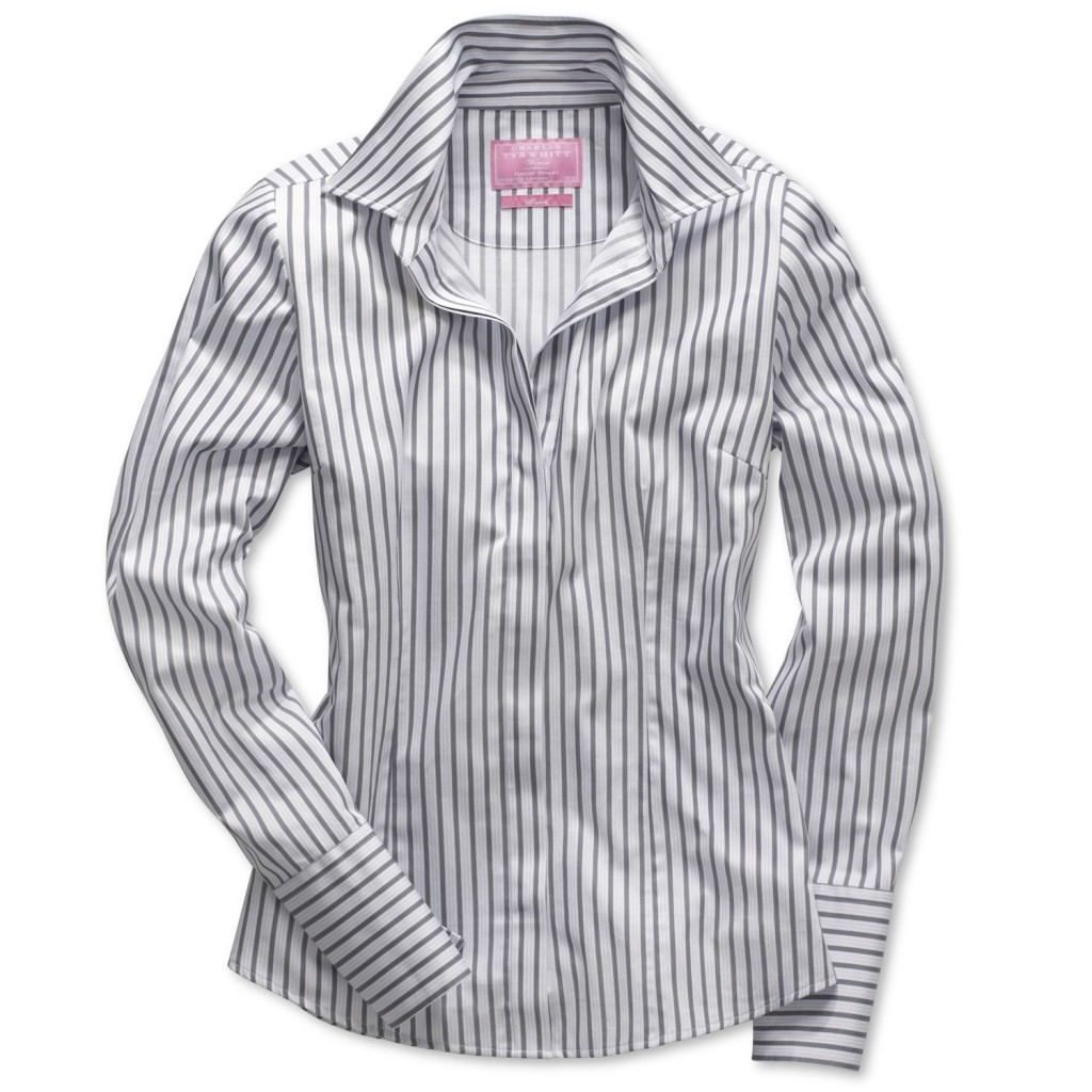 Striped woman's button front, from Charles Tyrwhitt