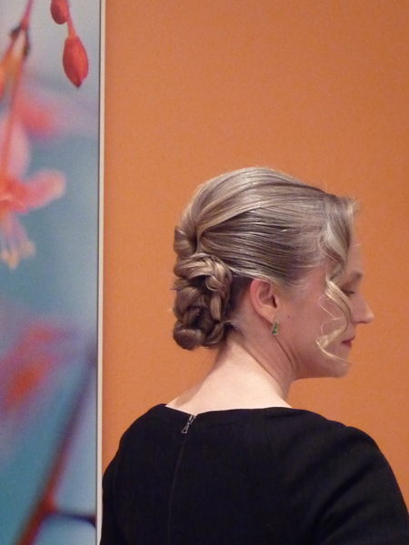 Updo For Gray Hair