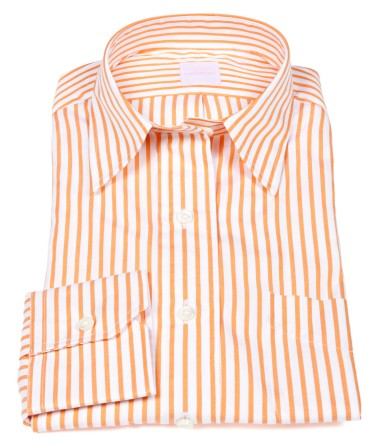 Ann Mashburn orange striped shirt for women
