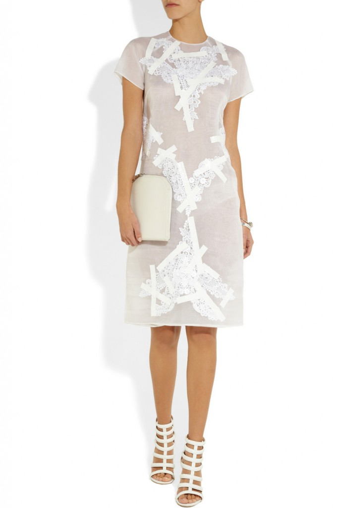 Christopher Kane Lace Dress with Duct Tape
