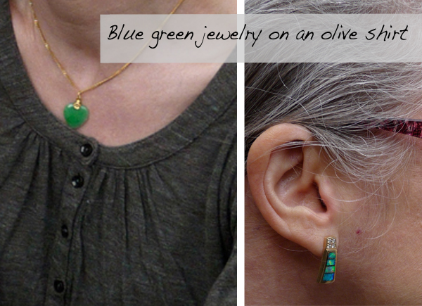 Jade Heart and Opal Earrings