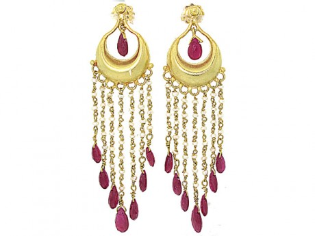 Hints of India in dangling rubies: $995