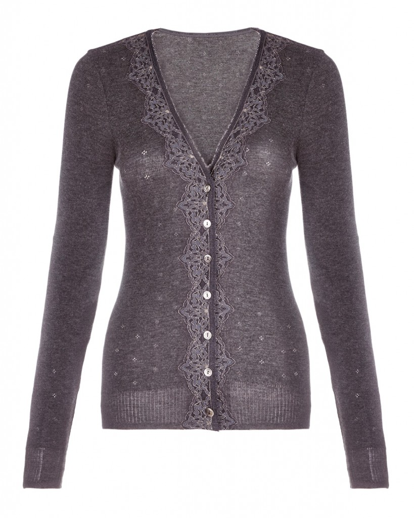 Jigsaw London Metallic Lace Cardigan