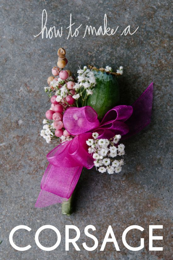 A Practical Wedding Show You How To Make A Corsage