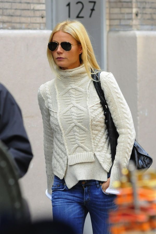 Gwyneth In Fisherman's Sweater
