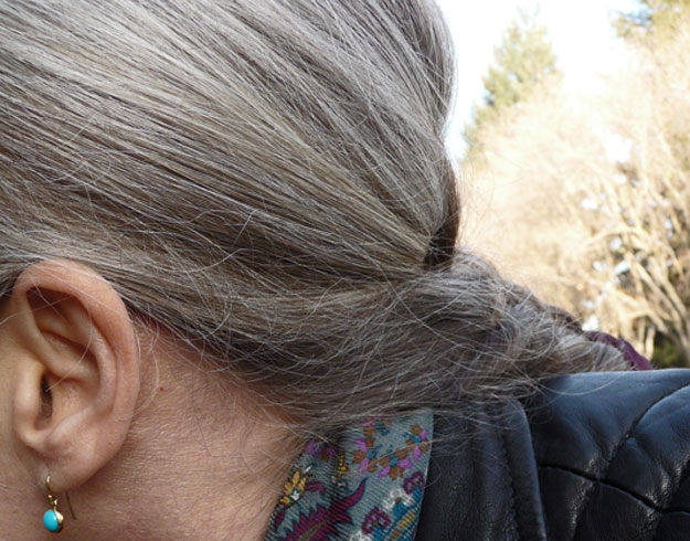 Turquoise-Earring-And-Gray-Hair