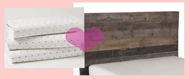 Coyuchi-Reclaimed-Headboard-&-Organic-Cotton-Sheets.with.heart