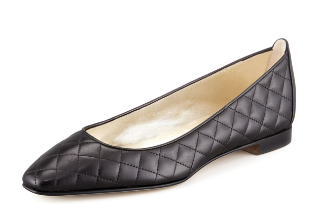 Manolo-Blahnik-Quilted-Flat-In-Black