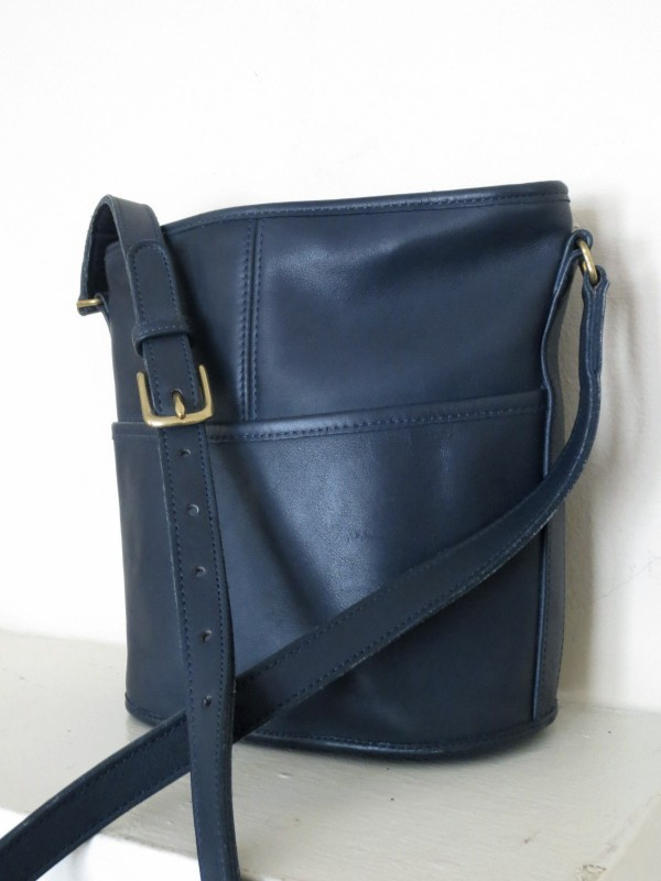 Blue Coach Bucket Bag