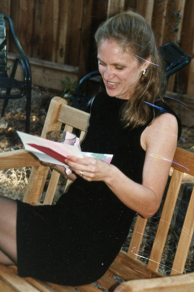 Lisa's-40th-Birthday-Reading-On-Bench