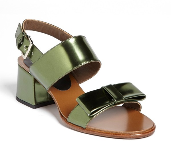 Marni Back Strap Bow Sandal via Privilege