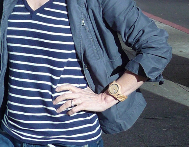 JORD-wooden-watch-with-striped-tee