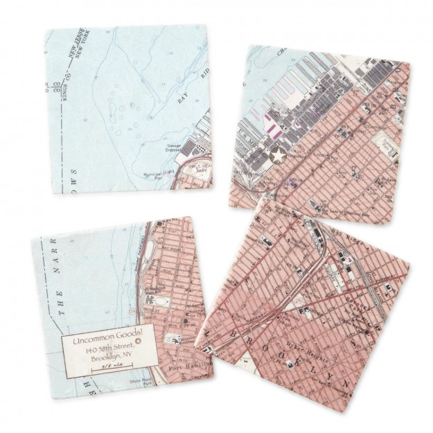 Map Coasters from Uncommon Goods