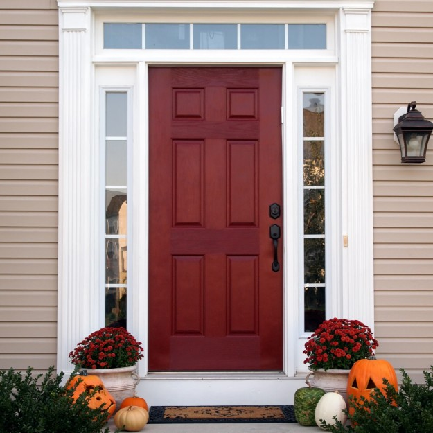 attractive best red paint for front door photo