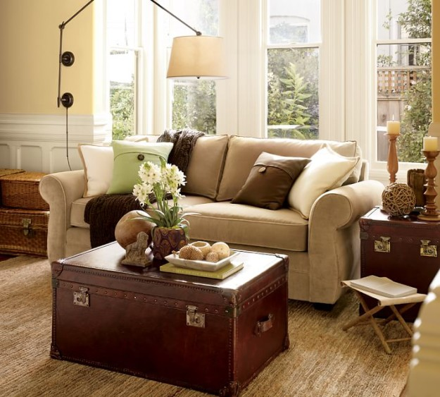 "Modernizing And ""Eclecticizing"" A Pottery Barn Living Room 