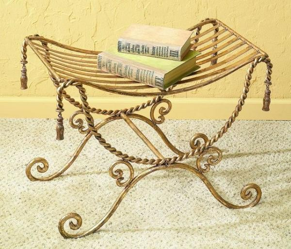 antique_gold_iron_bench