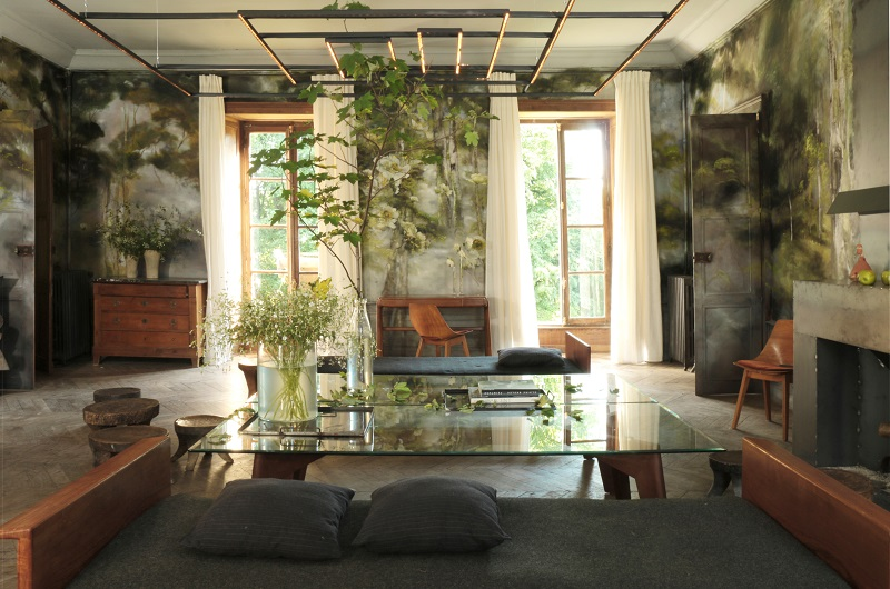 Claire Basler Paints The Walls Of Her Chateau