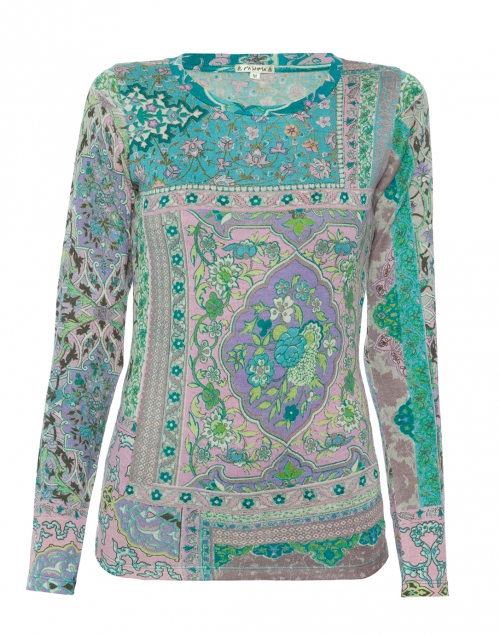 Pashma Silk and Cashmere Paisley Top