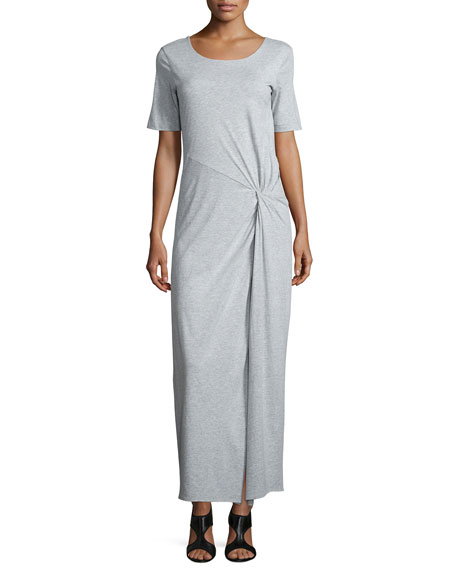Joan Vass Ruched Tee Maxidress