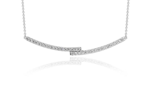 Blue Nile Diamond Bar Necklace