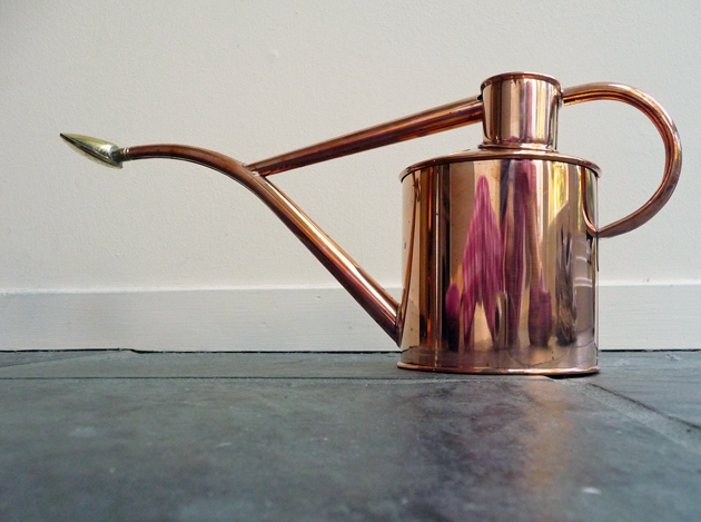 An enduring love affair with my fuchsia and its friend a small haws copper watering can - Haws copper watering can ...