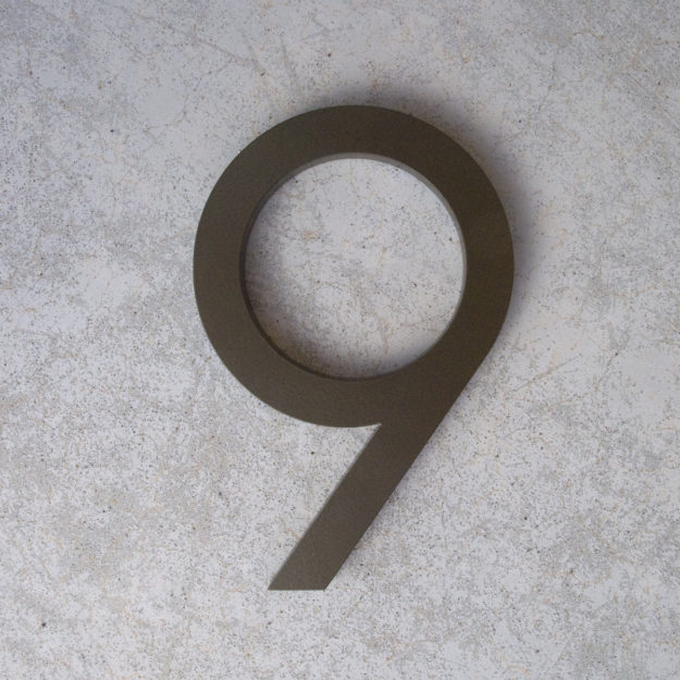 bronze modern house numbers 9